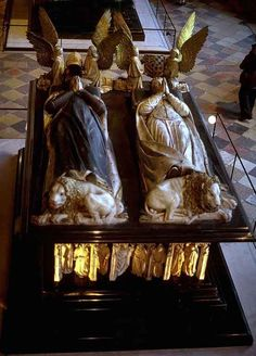 Tomb of John the Fearless of Burgundy(Jean sans Peur) & Wife.Ca 1439............