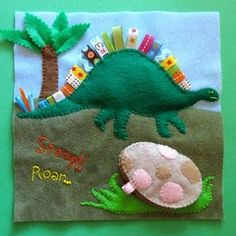 Dinosaur quiet book page