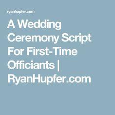 My Non Religious Short and Sweet Wedding Ceremony Script par 1