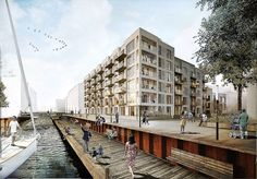 New DGNB-gold level residential complex in Nordhavnen, Copenhagen, by C.F. Møller Architects