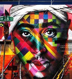 Eduardo Kobra-Tupac. #eduardokobra http://www.widewalls.ch/artist/eduardo-kobra/
