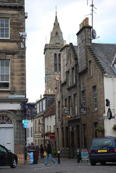 St Andrews, Scotland: off Market Street, with a view of my favorite pub, The Central.