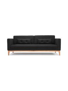 Tyylikäs ja selkeälinjainen Day-sohva on puurunkoinen ja kangasverhoitu. Klassisen hillitty ja mukavan kookas sohva sopii monentyyppiseen sisustukseen. Jalat ovat tammea ja muu runko mäntyä. Istuimet ovat vaahtomuovia. Mitat ovat (L) 220 x (K) 85 x (S) 92 cm. Istuinkorkeus on 47 cm ja istuinsyvyys 58 cm. Päällimateriaali on 67 % villaa, 26 % polyamidia ja 7 % polyesteriä. Mukana tulee kaksi tyynyä. Stockholm, Chair Cushions, Wooden Frames, Army Green, Sofas, Love Seat, Villa, House Design, Couch