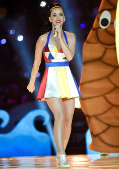 Katy Perry Performs at Halftime during the Super Bowl  #InStyle