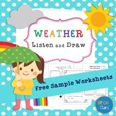 Free Listen & Draw sample from my Weather and Seasons Listen and Draw Activity Pack. This is a fun, engaging listening activity which is successful with all age groups. I have used it with my ELL's/ESL students but this would also work really well with young learners and is a great NO PREP filler activity. ===============================================You will find easy, intermediate and advanced versions of this activity included in this pack.