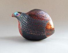 Raven Art, Guinea Fowl, Cat Pose, Raku Pottery, Gothic Home Decor, Quail, Abstract Sculpture, Sculptures, Ceramics Ideas