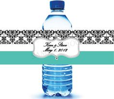 Custom Water Bottle Labels for Wedding Favors by icustomwater, $0.49