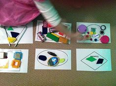 Sorting shapes, Counting activities