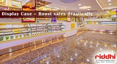 Display Case – Boost Sales Drastically!  Do you know, a good looking food display case counter can boost your sales drastically? Get Riddhi Display's beautifully designed food display case counter for your food abd bakery shop.