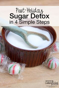 Post-Holiday Sugar Detox in 4 Simple Steps | Did you indulge in too many sweet treats over the holidays and now you're ready to start the new year on a healthier note? A short sugar detox can be the perfect reset button for our bodies. There are lots of hardcore, carb-cutting, intensive sugar detox programs out there, but if you are looking for an easy-to-follow, won't-make-you-crazy, gentle restart to healthier eating, you've come to the right place. Are you in?…