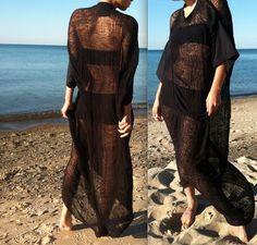 Oversized Shredded Black Dress by SlowShineShreds on Etsy, $72.00