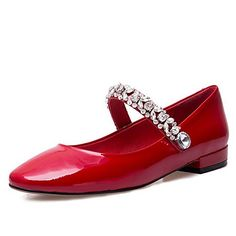 49.99  Women s Shoes Patent Leather Spring Summer Ballerina Flats Flat  Heel For Casual Dress Black Red Nude 5f8129cb02ae3