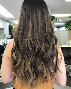 balayage highlights wavy ash blonde brunette asian long curls fall autumn @aeslee98