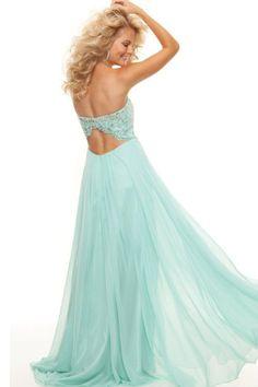 Prom Dresses 2013 A Line Sweetheart Chiffon Floor Length Open Back