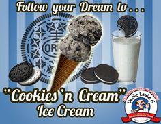 "Come celebrate 100 years of the Oreo cookie with us and ""Cookies 'n Cream"" ice cream!!  #icecream #italianice #oreo"
