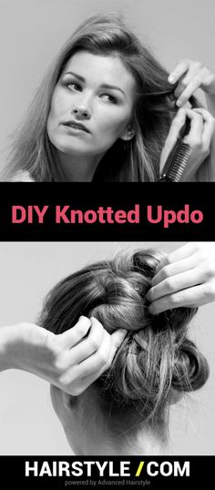 When you need a sophiscated look on the go, look to the DIY Knotted Updo @hairstyledotcom
