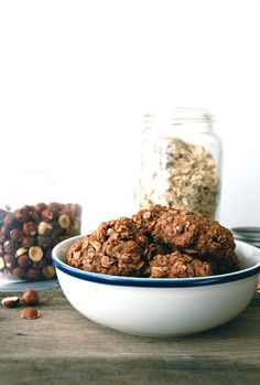 Nutella oatmeal Cookie. Easy and could claim to be healthy