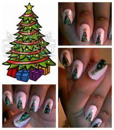 christimas tree nail