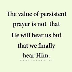 The value of persistent prayer