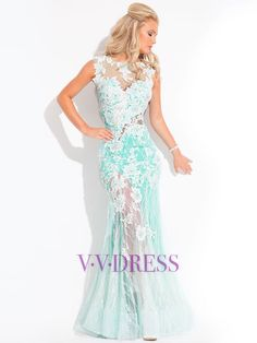 Trumpet / Mermaid Applique  Lace  Prom Dresses / Evening Dresses