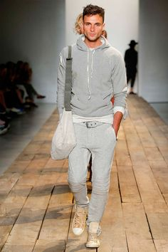 Greg Lauren Spring/Summer 2016 // i really appreciate that the 'headed to the gym' look is being formalized by the fashion world