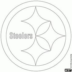 pittsburgh steelers logo american football team in the north division in the afc pittsburgh pennsylvania coloring page - Steelers Coloring Pages