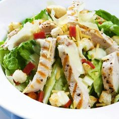 Clean meals - chicken salad with lettuce and tomato