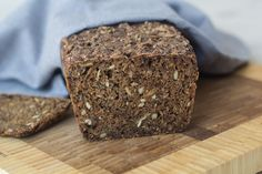 Recipe for homemade Danish rye bread | Made half portion and baked in 8.5 x 4.5 loaf pan. 1dl=approx. 1/2c. Which means 1/2c each of add-ins, 1c of sourdough, 1c of a.p. flour, 1c of rye flour, 2c of water. Subbed oat bran for cracked wheat. Added 1/3tsp of yeast during bulk fermentation. Easy tasty forgiving recipe.