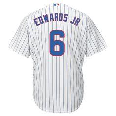 9680447c64d19 Chicago Cubs Men s Carl Edwards Jr. Replica Pinstripe Jersey