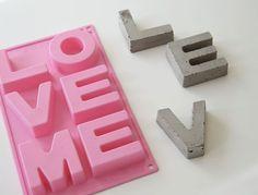 DIY betongbokstäver | DIY Mormorsglamour | Sköna Hem DIY Betonletters