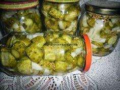 Ogórki koreczki Canning Recipes, Celery, Preserves, Pickles, Cucumber, Mango, Food And Drink, Homemade, Vegetables