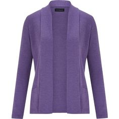 Viyella Double Face Zip Through Cardigan ($135) ❤ liked on Polyvore featuring tops, cardigans, purple, women, zip top, viyella, merino cardigan, purple cardigan and purple top