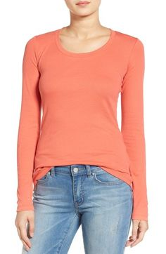 Caslon® 'Melody' Long Sleeve Scoop Neck Tee available at #Nordstrom