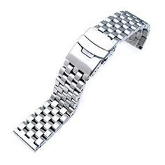 20mm Brushed Engineer Solid Link 316L Stainless Steel Watch Bracelet Band -- You can get additional details at the image link.