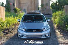 Klutch Wheels SL5 with custom painted center on 2013 Honda Civic Si Sedan