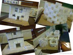 Sugar cubes iglo's and houses
