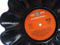 Schallplatte Schale, Obstschale aus Schallplatte