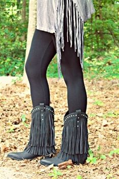 Four Strong Winds Fringe Boots - Black $87.99 #SouthernFriedChics