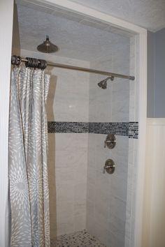master bath shower...  including a glorious rain shower.  #moen