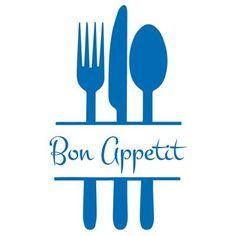 "The Decal Guru Bon Appetit Kitchen Wall Decal Size: 36"" H x 22"" W x 0.01"" D, Color: Black"
