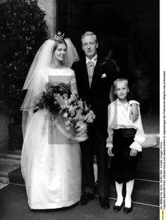 Princess Birgitta, wearing the diamond Clover Coronet of the Hohenzollern Family in 1961