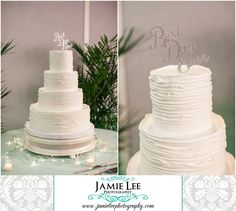 Naples Beach Hotel | Naples Wedding Photographer | Jamie Lee Photography | Beach Themed Wedding Reception | White Cake with Best Day Ever Topper