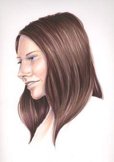 Copic hair blending