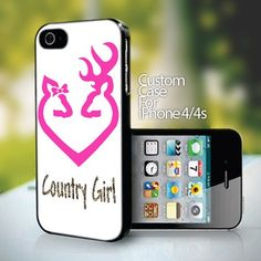 Browning Country Girl for iPhone 4 or 4s case