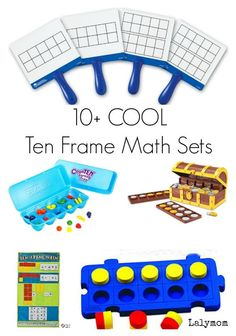 10+ Super Cool Ten Frame Math Sets for Kids - Perfect for homeschool or common core classrooms.