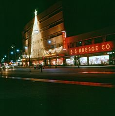 Iconic Christmas tree of lights. SS Kresge next door. Christmas Past, Modern Christmas, Vintage Christmas, Old Images, Old Photos, Worcester Massachusetts, Tree Lighting, Next Door, Great Memories