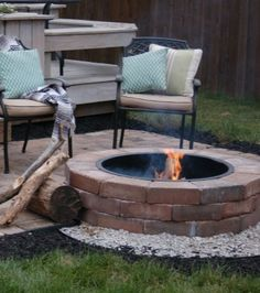 DIY paver patio and fire pit...perfect for the cool Fall nights!!- Unexpected Elegance