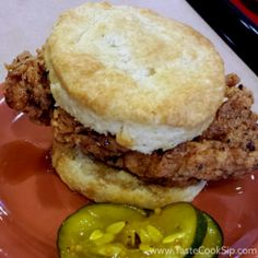 ... Chicken N' Biscuits, with Maple Bourbon Glaze and house pickles. More