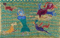 Woman and birds / Ilija Basicevic Bosilj