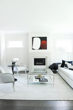 Shift Interiors is a full-service interior design studio founded by Jamie Deck and based in Vancouver, B. Contemporary Family Rooms, Monochromatic Color Scheme, Interior Design Studio, Glass Panels, Color Schemes, Flooring, Fireplaces, Grey, Modern